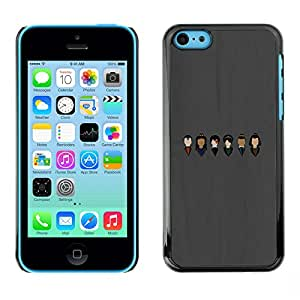 LECELL--Funda protectora / Cubierta / Piel For iPhone 5C -- Caras --