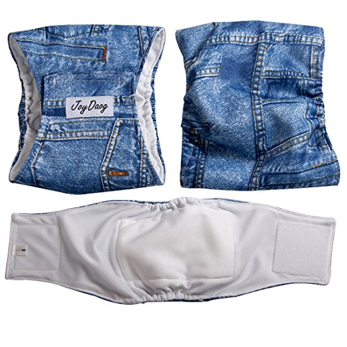 Pictures of JoyDaog Jean Belly BandsSmall Dog Diapers Male 7