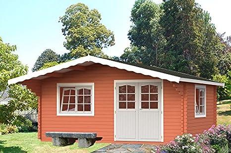 Casita de madera para jardín en madera de abeto, 44 mm - 19, 1 m2 ...