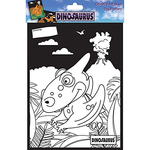 Trimcraft Dinosaurus Color Your Own Poster-DAX