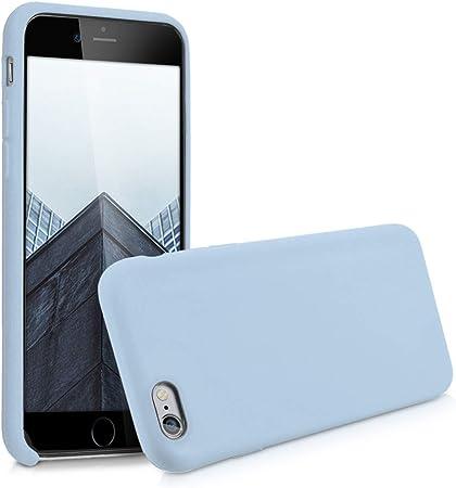 Kwmobile Hülle Kompatibel Mit Apple Iphone 6 6s Handyhülle Gummiert Handy Case In Hellblau Matt Elektronik