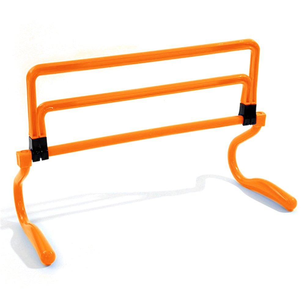 DAVEVY 6PCs Football Training Hurdle Assembled Removable Adjustable Football Soccer Training Hurdle Footwork Hurdle,Agility and Speed Training(Orange)