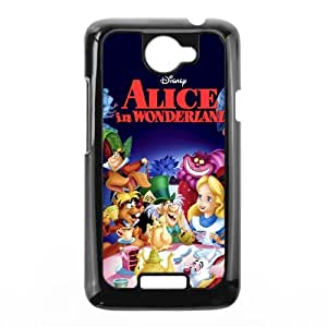 HTC One X Cell Phone Case Black Alice in Wonderland Character Alice Skafp