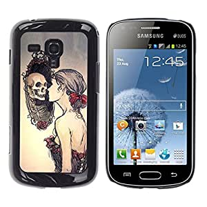 Stuss Case / Funda Carcasa protectora - Cráneo Relection Miror - Goth - Samsung Galaxy S Duos S7562