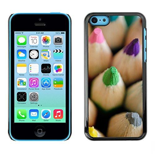 Premio Sottile Slim Cassa Custodia Case Cover Shell // F00019876 crayons de couleur // Apple iPhone 5C