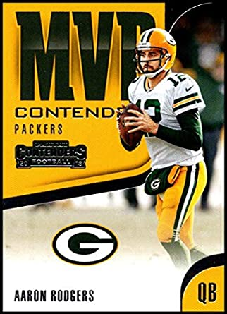 2018 Panini Contenders MVP Contenders  MVP-1 Aaron Rodgers Green Bay Packers  NFL Football 5e5e0d30d