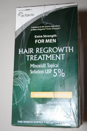 Actavis for Men Hair Growth Treatment Extra Strength Minoxidil 5% 6-month Supply