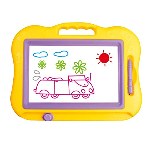 Painting Board,Children Kid Preschool Magnetic Writing Painting Drawing Graffiti Board Toy➪Laimeng (Yellow) (Drawing Tent compare prices)