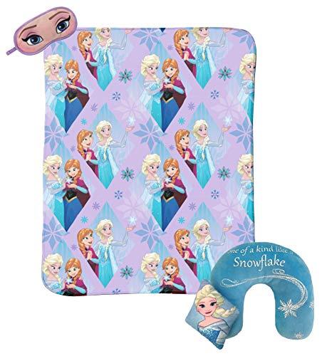 Princess Eye Mask - Jay Franco Disney Frozen Sparkles 3-Piece Travel Gift Set with 40