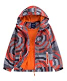 M2C Boys Hooded Full-Zip Windproof Fleece Lined Active Jacket 7/8 Orange