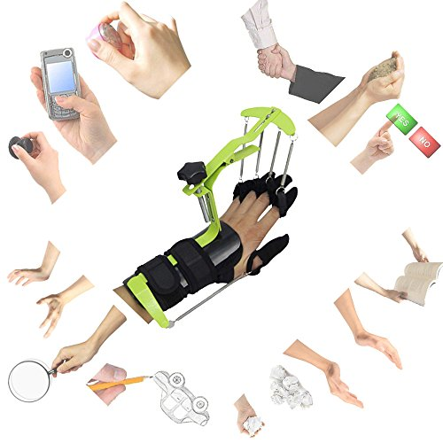 Finger Brace Splint Support Rehabilitation Training Device Hand Impairment Finger Squeeze Equipment Hand Rehabilitation for Stroke Spinal Cord Traumatic Brain injury Medical Training for Hemiplegia by Konliking