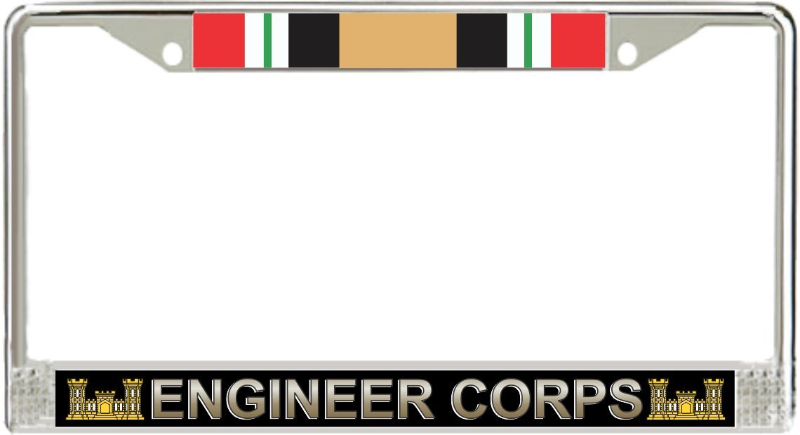US Army ingeniero Corps Irak veterano Licencia Marco de la placa ...