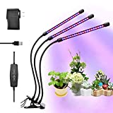 LEDLM Grow Lights for Indoor Plants 30W Timming Plant Grow Lamp 60 LED with Red Blue Spectrum Adjustable Gooseneck Cyclic 3/6/12H Timing Switching 6 Dimming Modes Review