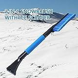 Snow Brush,EFORCAR Car Ice Scraper and Winter Brush Foam Grip Car Window Cleaner Tools
