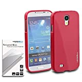 Samsung Galaxy S4 Case & Tempered Glass Bundle, Modeblu [Gel Case] Low-profile Slim Fit Soft Flexible Jelly TPU Protection [Hot Pink]- For Samsung Galaxy S4 - Compatible with Verizon, Sprint, T-mobile, AT&T, Unlocked, and International Phones- Samsung Galaxy s42013 Model Gs4 i9500