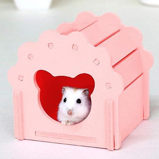 LnLyin Pet House hámster Nido de Dormir DIY pequeño Pet House ...