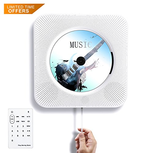 Tocode CD Player Wall Mountable Bluetooth Speaker Innovative Pull Switch Remote HiFi Speaker USB...