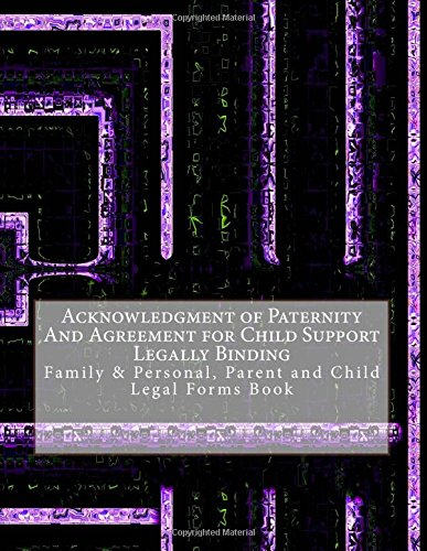 Acknowledgment Of Paternity And Agreement For Child Support