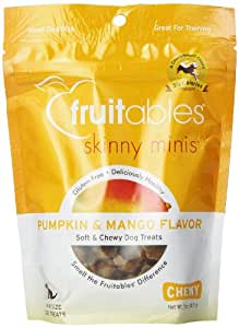 Fruitables Pumpkin & Mango Skinny Mini Dog Treats 5-Ounce