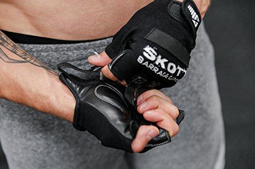 Skott Barrage Evo 2 medio dedo guantes de levantamiento de pesas - mejor gimnasio Entrenamiento Fitness y ejercicio equipo para Crossfit Elevación ciclismo ...