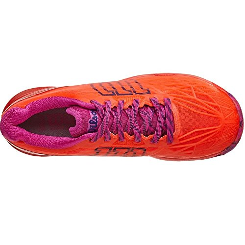 Wilson Damen Wrs322510e060 Tennisschuhe, Orange (Fiery Coral / Fiery Red / Rose Violet), 39 2/3 EU