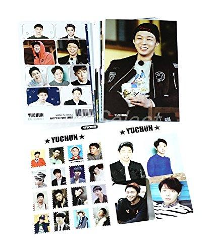 JYJ ユチョン グッズ 【 ポストカード セット ( ポストカード 12枚 + ステッカー 3枚 ) 】 15点セット