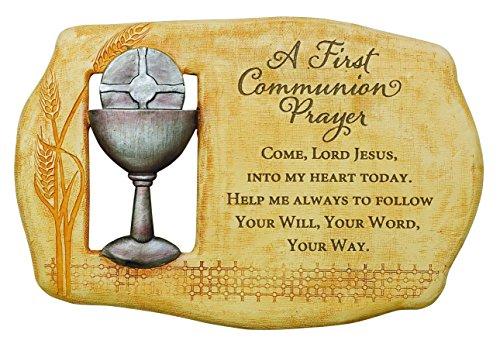 A First Communion Prayer Open to Faith Plaque