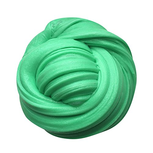 Price comparison product image Handyulong Kids Fluffy Floam Slime Putty Durtend 60ml Scented Stress Relief Kids Clay Toy (Green)