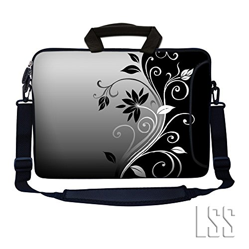 LSS 15.6 inch Laptop Sleeve Bag Notebook with Extra Side Pocket, Soft Carrying Handle & Removable Shoulder Strap for 14