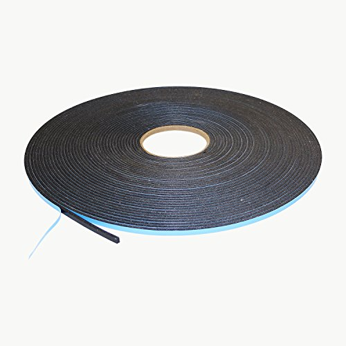 J.V. Converting DC-WGT-01/BLK02525013 JVCC DC-WGT-01 Double Coated Window Glazing Tape: 1/8 thick x 1/4 x 75 ft, black