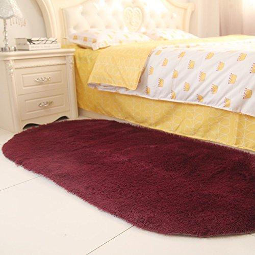 Sundian Sundian Sundian Oval massives Bett Schlafzimmer Schlafzimmer Flur Teppich im Wohnzimmer Teppich Teppich, 80  160 cm [Verdickung], Claret B077ZBWKY8 Teppiche 508452