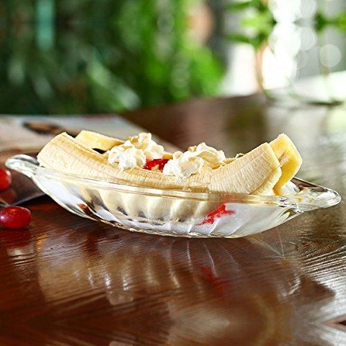 Banana Split helado platos Classic diseño de cristal 2 unidades: Amazon.es: Hogar