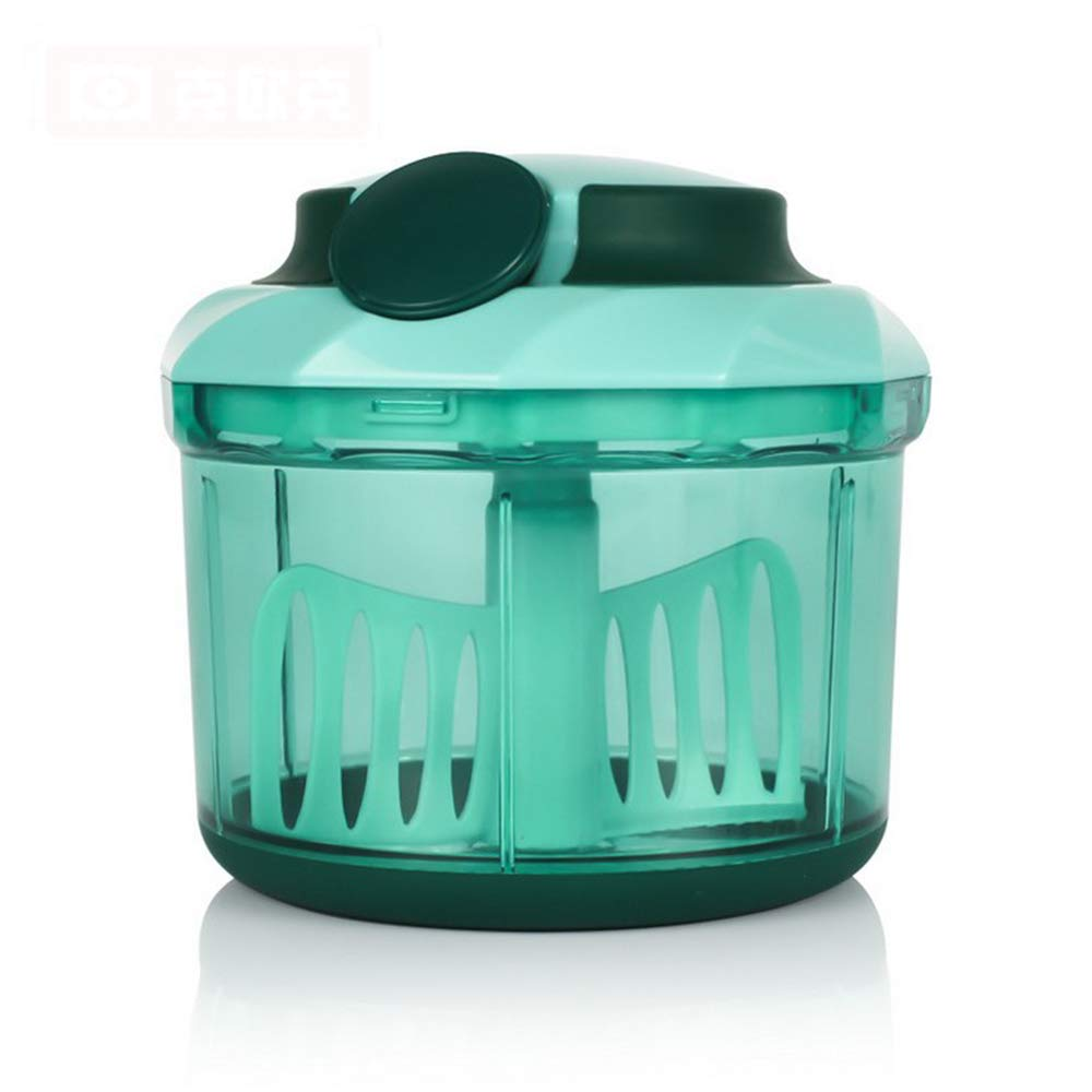 Addfun Pull Food Chopper, Pull String Manual Food Processor Kitchen Manual Chopper Blender Vegetable Fruits Chopped Shredders & Slicers with 2 Mixing Blades, 1100ml (Blue) Fandy Life