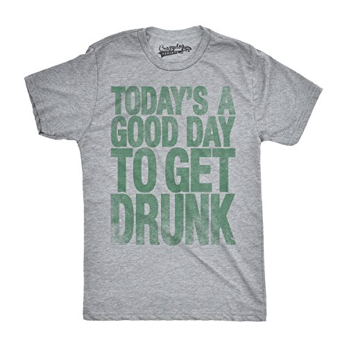 Mens Good Day to Get Drunk Funny Drinking Beer St. Patricks Day T Shirt