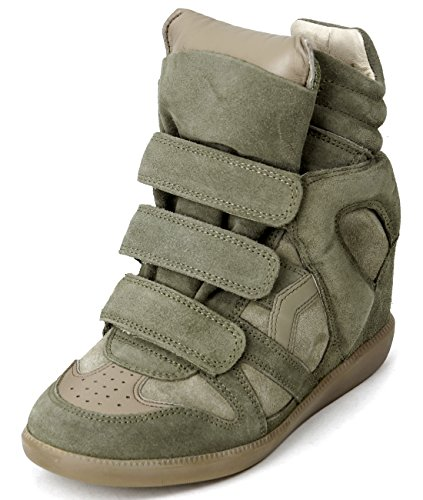 isabel-marant-bekett-womens-velcro-snap-high-top-leather-sneakers-37-taupe