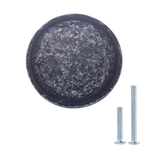 AmazonBasics Mushroom Cabinet Drawer Knob, 1.19 Inch Diameter, Antique Silver, 10-Pack