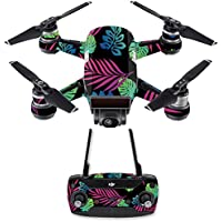 Skin for DJI Spark Mini Drone Combo - Neon Tropics| MightySkins Protective, Durable, and Unique Vinyl Decal wrap cover | Easy To Apply, Remove, and Change Styles | Made in the USA