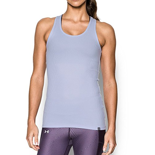 Under Armour Womens Tech Victory Tank  Lavender Ice Granite  Small