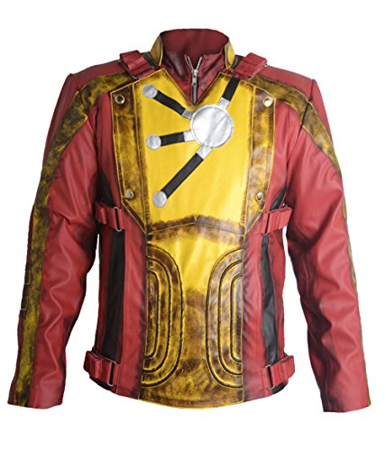 Firestorm Costume Legends Of Tomorrow - MSHC DC Legends Of Tomorrow Firestorm FAUX Leather Jacket (SMALL) Multicolor