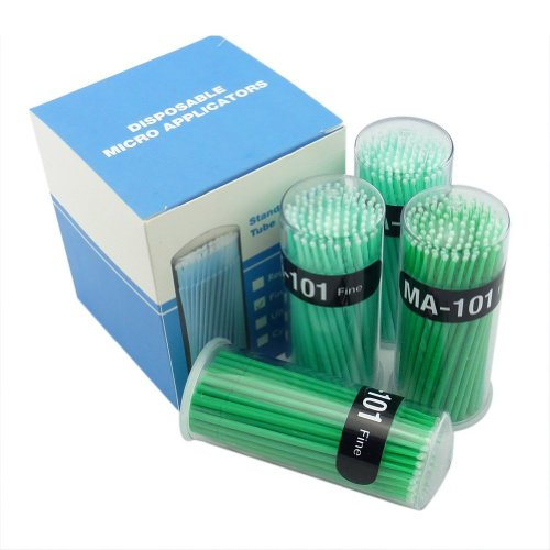 Easyinsmile 400 Pcs Dental Disposable Micro Applicator Brush Bendable Fine Green Dia.2 Mm by 1Easyinsmile