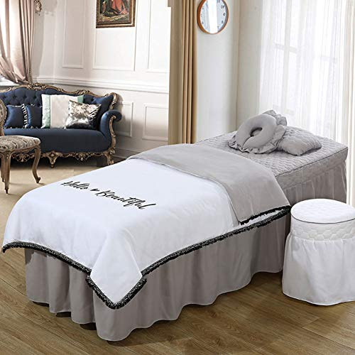 YXLJYH Simple Massage Table Sheet Sets Korean Beauty Bed Cover 4 Sets Bed Skirt Sheet Salon Bed Cover Body Fumigation Physiotherapy Massage Bed Cover-D from YXLJYH