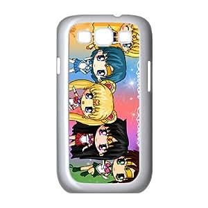 CARACTERES Sailor Moon Chibi WALLCHIPS funda Samsung Galaxy S3 9300 funda teléfono celular de cubierta blanca, funda de plástico caja del teléfono celular