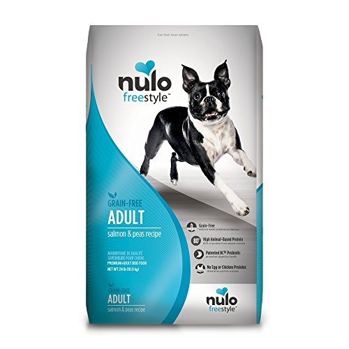 Nulo Adult Grain Free Dog Food: All Natural Dry Pet Food for Large and Small Breed Dogs (Salmon, 24lb) For Sale