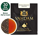 VAHDAM, English Breakfast Black Tea (30 Tea Bags) - STRONG & AROMATIC - Original English Tea Bags, Black Tea Leaves, Brew Kombucha Tea, Hot Tea or Iced Tea - 15 Pyramid Tea Bags (Set of 2)