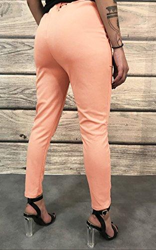 Lisos Joven Largos Con Colores Slim Mujeres Alta Pantalón Pantalones Cintura Vendaje Moda Casual wgqTn0E