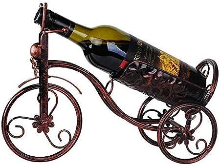 Glyyr Botelleros Rack de copa de vino, soportes de botella de vino, estanterías de vino montadas en la pared, soporte de exhibición de vino tinto, bicicletas de metal dispensador de vino en forma de a