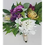 Wedding-Bouquet-Cottage-French-Mixed-Flowers-in-Plum-and-White