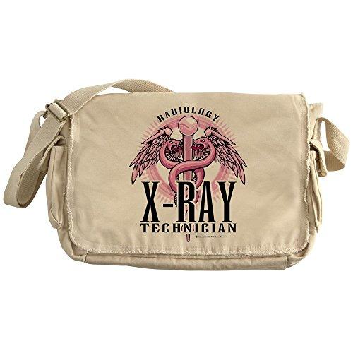 CafePress - X-Ray Tech Caduceus Pink - Unique Messenger Bag, Canvas Courier Bag