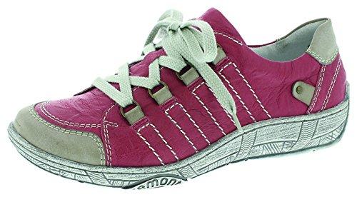 de Remonte para Mujer Cordones Steel Rojo Rosso Zapatos Rosso Steel 5SSwrxp
