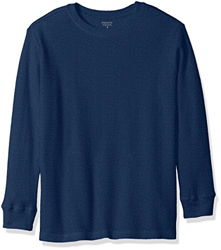 (French Toast Boys' Toddler Long Sleeve Solid Thermal, Medium Indigo Heather, 3T)